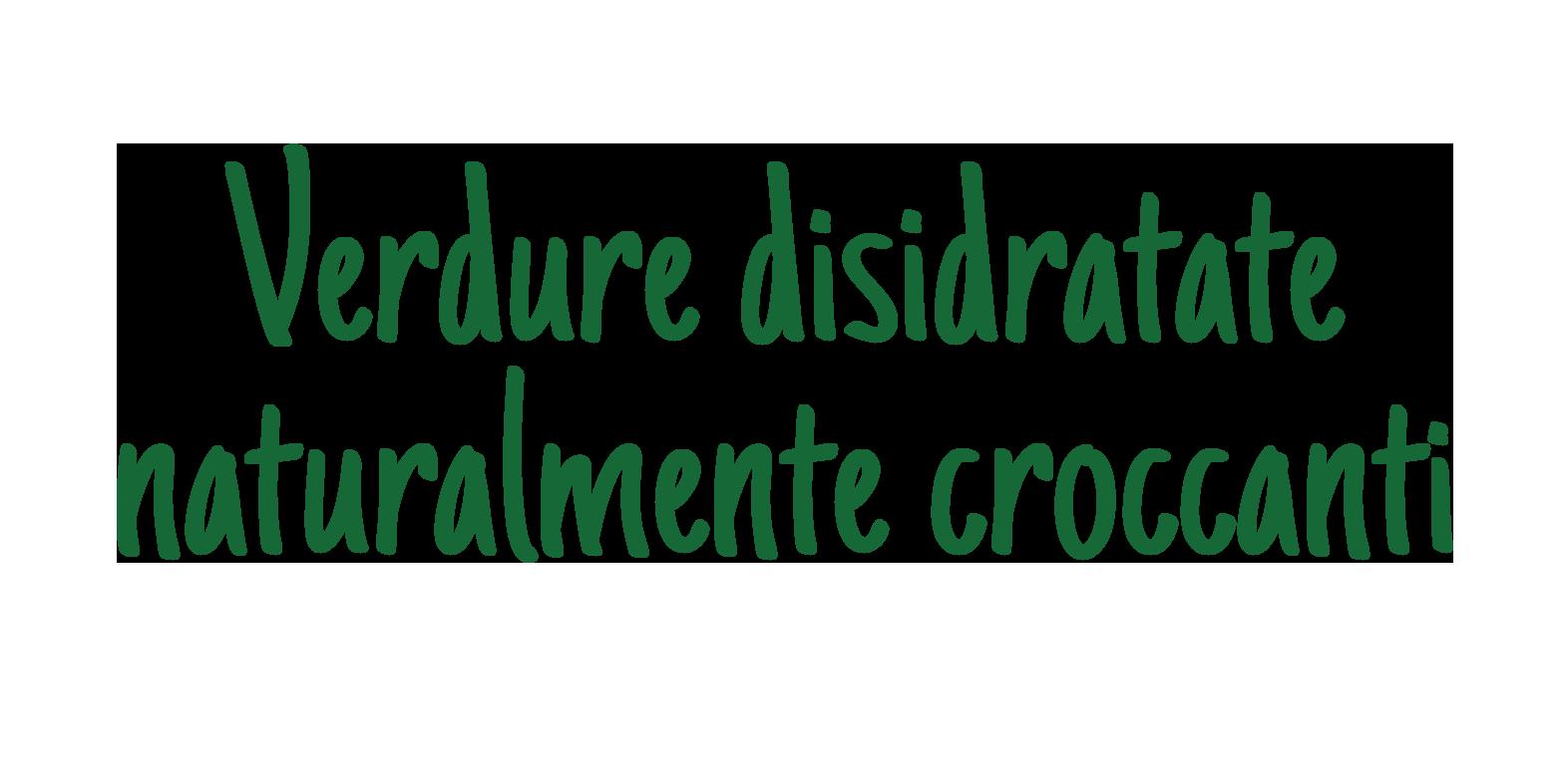 verdure disidratate naturalmente croccanti
